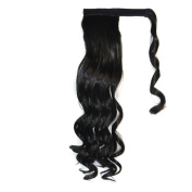 Deercon Womens Long Curly Wigs Ponytail Magic Sticks Ponytail