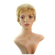 Deercon Womens Wig Short Hair Curls Micro-volume Fashion Head Cover