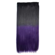 Deercon Womens Colour Gradient Straight Hair Piece One Piece Hair Extension