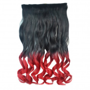 Deercon Womens Gradient Curly Hair Colourful Long Hair Curls