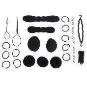 Hair Styling Braid Tool,65PCS/Set Women Fashion Disc Hair Braider Twist Magic Wonder Holder Clip Stick Bun Maker DIY Device