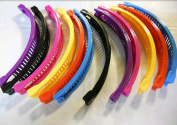 12 pcs Banana Hair Clip Claw Comb (Mulite-colour).