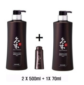 Doori Daeng Gi Meo Ri Ki Gold Premium 3Shampoos set for Hair Loss, Thin Hair, Grey Hair Prevention