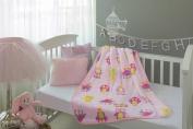 Baby Mink Owl Nursery Crib Lightweight Soft Fleece Swaddle Blanket 100cm x 80cm