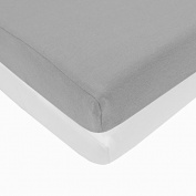 Pindaboo Pack N Play Playard Fitted Sheet, Grey & White