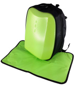 Hard Shell Nappy Bag Backpack in Cool Lime Green- Unisex Multifunction Nappy Backpack Mom and Dad Boy baby Girl baby Bag