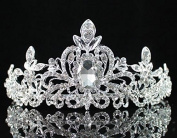 Loyal Clear Austrian Rhinestone Tiara Crown Headband Bridal Wedding Prom T1402 Silver