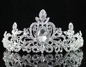 Loyal Clear Austrian Rhinestone Tiara Crown Headband Bridal Wedding Prom T1402 Silver