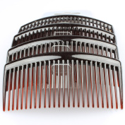 Pack of 4 Tort 9cm Plain Hair Combs Side Combs Slides