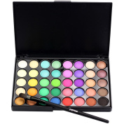 LandFox Cosmetic Matte Eyeshadow Cream Makeup Palette Shimmer Set 40 Colour+ Brush Set