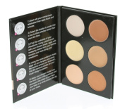 Cameo Cosmetics 6 Shades Contour Kit, Light Colours - Sleek Makeup Palette For Highlighting & Contouring - Step By Step Instructions Included