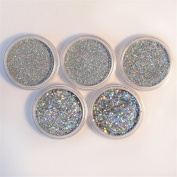 NICOLE DIARY 1 Box Holographic Glitter Powder Holo Glitter Dust Powder Manicure Nail Art Decoration