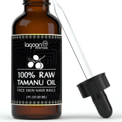 Tamanu Oil Cold Pressed (2oz / 60ml). 100% Raw Virgin Pure Unrefined For Hair, Skin, Face, Nails, Scars, Stretch Marks and More. Highest Quality Dark Green Colour. Bottle With Dropper + E-Book.
