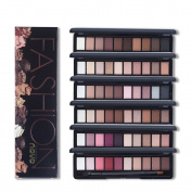 Shimmer Matte Natural Fashion Eye Shadow Make Up Set With Brush 10 Colours Palette