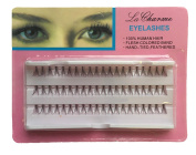 La Charme Beautiful Eyes Black Eyelashes Human Hair Lashes 3 Pack Set 10mm