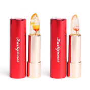 Kailijumei Jelly Lipstick, Flower Lipstick - Barbie Doll Powder & Minutemaid Yellow For Pink Lips