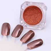 NICOLE DIARY 10G Rose Gold Mirror Powder Manicure Nail Art Glitter Chrome Pigment