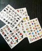Efivs Arts Cute Cartoon Nails Stickers Kid Nails Stickers DIY Nail Art Stickers for Children Girls 12PCS
