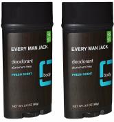 Every Man Jack Aluminium Free Deodorant Fresh Scent Pack of 2