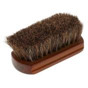 Anself Men's Beard Brush Natural Horse Hair Moustache Shaving Brush Facial Hair Brush Wooden Handle