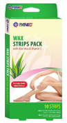 Hair Remover Wax Strip Kit for Face, Brows & Bikini, With Aloe Vera And Vitamin E 20 Strips