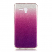 Moonmini Gradient Colour Sparkling Glitter Ultra Slim Fit Soft TPU Phone Back Case Cover for Alcatel OneTouch Pop 3 14cm - Violet