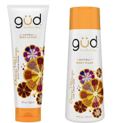 Gud Orange Petalooza Natural Body Wash and Lotion Bundle