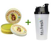 Badger Company, Badger Balm, For Sensitive Dry Skin, Unscented, 60ml (56 g), (3 PACK), Vitaminder, Power Shaker Bottle, 590ml Bottle