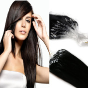 Yotty 100 Strands Bead Loop Micro Rings Real Human Hair Extensions Straight 41cm 40g