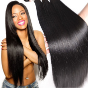 Shining Star Straight Brazilian Human Hair Extension 3 Bundles 100% 6a Unprocessed Virgin Hair Natural Black