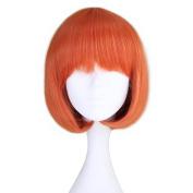 Miss U Hair Girl's Short Straight Harajuku Style Orange Bobo Hair Cosplay Party Wig