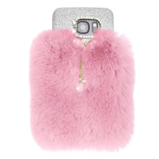 For Galaxy S7 Case, HP95(TM) Fashion Women Girls Warm Fluffy Villi Fur Plush Wool Bling Case Cover Skin For  for  for Samsung   Galaxy S7