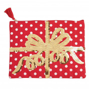 Mud Pie Christmas Holiday Women's Fashion Dazzle Carry-All Case