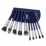 Naimo Makeup Brushes Set Cosmetics Synthetic Kabuki Make up Brush Foundation Blending Blush Eyeliner Face Powder Makeup Brush Set With Cosmetic Bag