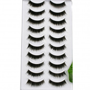 CCbeauty 20 Pairs Black Long & Thick Reusable False Eyelashes Fake Eye Lash for Makeup Cosmetic,#3