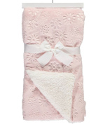 "Sam Salem & Sons Soft Plush Baby Blanket Embossed Flowers Fleece Reverse Warm Sherpa Throw Bed Pink 30"" x 40"""