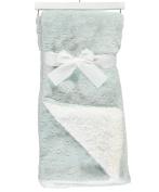 Sam Salem & Sons Soft Plush Baby Blanket Embossed Stars Fleece Reverse Warm Sherpa Throw Bed Blue 80cm x 100cm