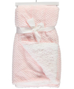 Sam Salem & Sons Soft Plush Baby Blanket Embossed Jacquard Fleece Reverse Warm Sherpa Throw Bed Pink 80cm x 100cm