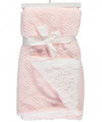 Sam Salem & Sons Soft Plush Baby Blanket Embossed Jacquard Fleece Reverse Warm Sherpa Throw Bed Pink 80cm x 100cm