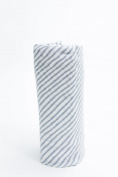 Saranoni Grey Stripe Muslin Swaddle Blanket 120cm x 120cm