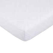 70cm W x 130cm L Nautica Kids Mix & Match Fitted Crib Sheet in Grey