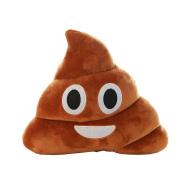 DATEWORK Soft Plush Amusing Emoticon Heart Eyes Poo Shape Pillow Doll Toy