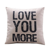 "DATEWORK ""Love you more ""Leaning Cushion Cover"