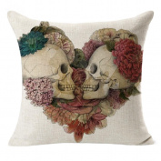 DATEWORK Cotton & Linen Sofa Waist Throw Cushion Cover Home Decor