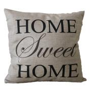 DATEWORK Linen Blend Sofa Waist Throw Cushion Cover Home Decor