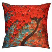 DATEWORK Flowe Tree Sofa Waist Throw Cushion Cover Home Decor