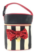 Betsey Johnson Duel Red Sequin Bow Baby Bottle Holder Insulated Lunch Tote Bag