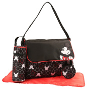Disney Mickey Mouse Multi Piece Nappy Bag with Flap, Toss Heads Print