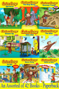 Curious George Series Books Collection by H.A.Rey-Pan Mcmillan-42 Brand New Pbs