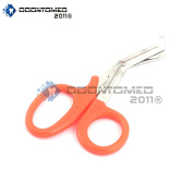 OdontoMed2011® PARAMEDIC UTILITY BANDAGE FIRST AID STAINLESS STEEL TRAUMA EMT EMS SHEARS SCISSORS 18cm NEON ORANGE ODM